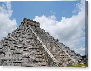Canvas Print featuring the photograph Maya Architecture by Robert  Moss
