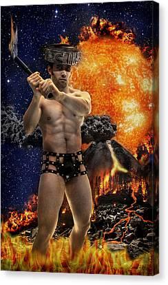 Canvas Print - Mayan Fire God by John Clum