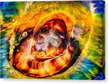 Mayan God Canvas Print by Omaste Witkowski