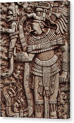 Mayan Indian Warrior Canvas Print by Brandon Bourdages