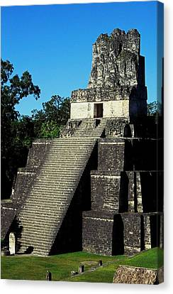 Mayan Ruins - Tikal Guatemala Canvas Print by Juergen Weiss