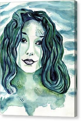 Maybe I'm A Mermaid Canvas Print