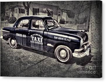 The Andy Griffith Show Canvas Print - Mayberry Taxi by David Arment