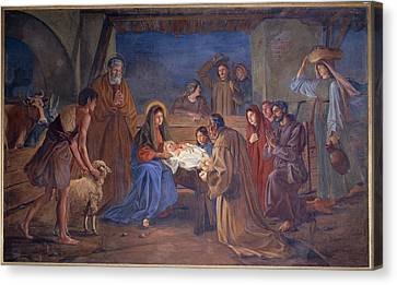 Mayer Ludwig, Nativity, 1891, 19th Canvas Print by Everett