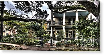 Mayfair Home On First Street Canvas Print by PhotoLily Photography