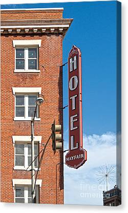 Mayfair Hotel - Pomona California Canvas Print by Gregory Dyer