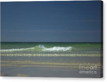 Mayflower Beach On Cape Cod Canvas Print by Amazing Jules