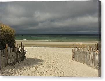 Mayflower Beach Storm Canvas Print by Amazing Jules