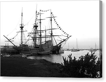 Canvas Print featuring the photograph Mayflower II by John Hoey