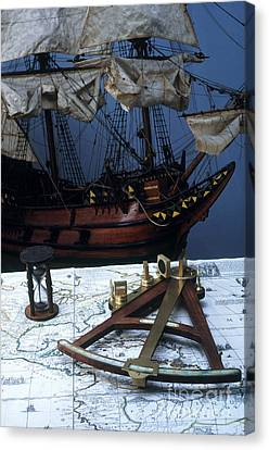 Mayflower Model With Quadrant Canvas Print by Fred Maroon