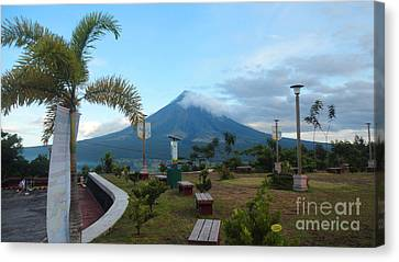 Mayon At Lignon Hill Canvas Print by Manuel Cadag