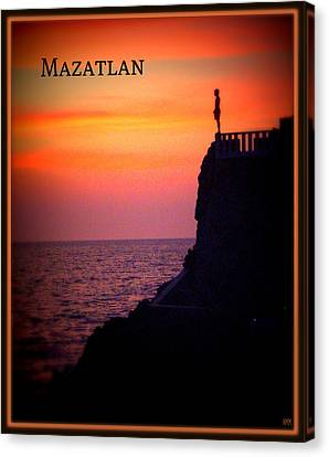 Canvas Print featuring the photograph Mazatlan Diver by Heidi Manly