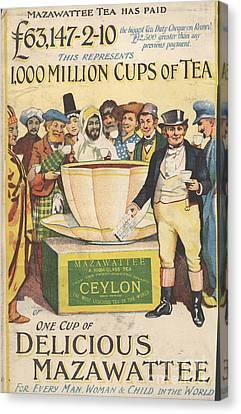 Mazawattee 1890s Uk John Bull Tea Canvas Print by The Advertising Archives