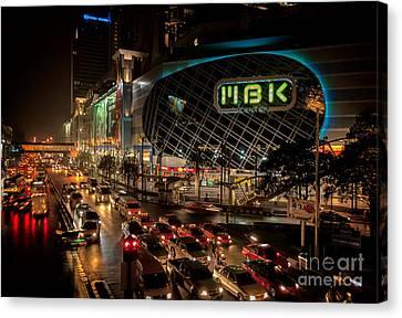Traffic Lights Canvas Print - Mbk Bangkok  by Adrian Evans