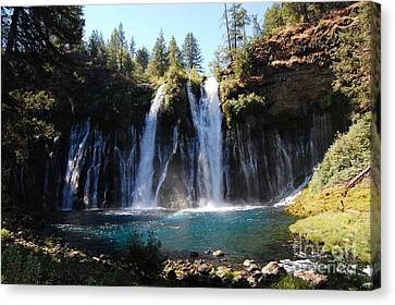 Canvas Print featuring the photograph Mcarthur-burney Falls 2 by Debra Thompson