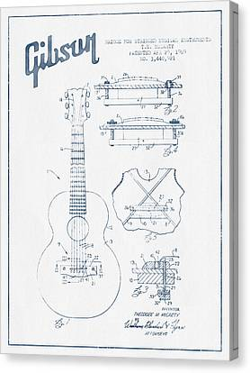 Mccarty Gibson Stringed Instrument Patent Drawing From 1969 - Bl Canvas Print