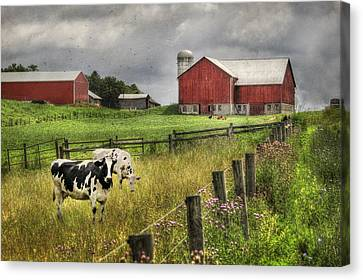 Mcclure Farm Canvas Print by Lori Deiter