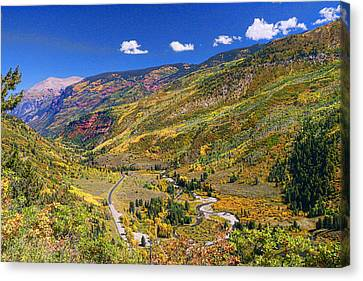 Mcclure Pass Scenic Overlook Canvas Print by Allen Beatty