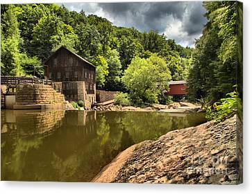 Mcconnells Mill Landscape Canvas Print by Adam Jewell