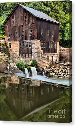 Mcconnells Mill Reflections Canvas Print by Adam Jewell