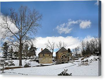 Mccormick Farm In Winter Canvas Print by Todd Hostetter