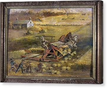 Maine Farmhouse Canvas Print - Mccormick Reaper, 1884 by Granger