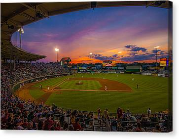 Mccoy Stadium Sunset Canvas Print by Tom Gort