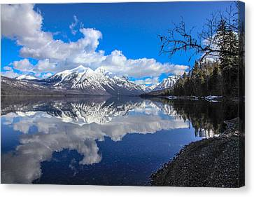 Glacier National Park Canvas Print - Mcdonald Reflecting by Aaron Aldrich