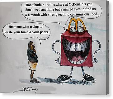 Mcdonald's New Mascot Canvas Print