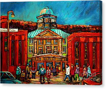 Mcgill Gates Montreal Canvas Print by Carole Spandau