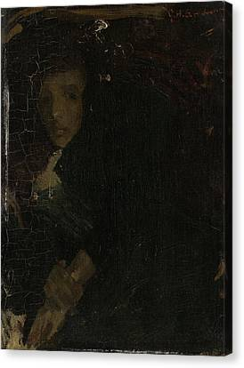 Mcj Marie Jordan 1866-1948, Wife Of The Painter Canvas Print by Litz Collection