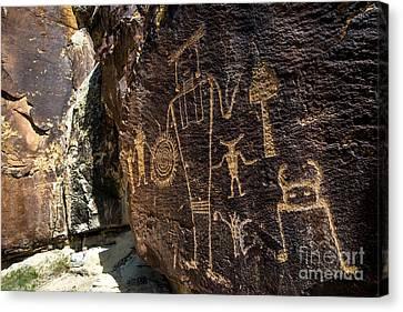 Mckee Springs Petroglyphs - Dinosaur National Monument Canvas Print