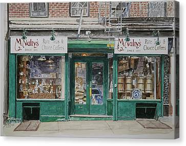 Mcnultys Coffee Canvas Print by Anthony Butera