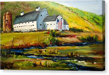 Mcpolin Park City Utah Barn Canvas Print
