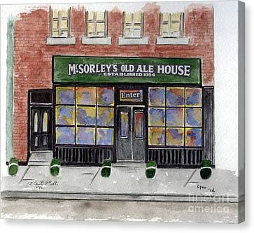 Mcsorley's Old Ale House Canvas Print by AFineLyne