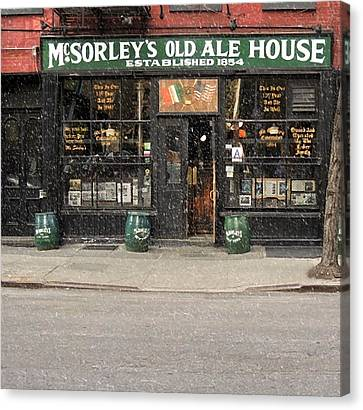 Mcsorley's Old Ale House Canvas Print by Doc Braham