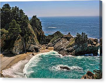 Mcway Falls Beach Canvas Print by Lara Ellis
