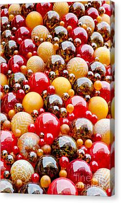 Mdina Wall Glass Spheres Blown Artwork In Valetta Malta Canvas Print by Andy Smy