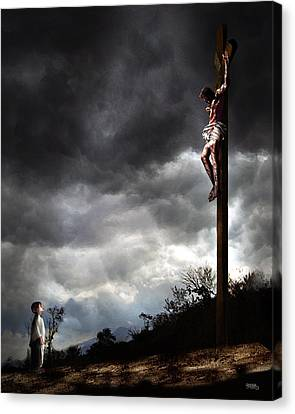 Me And Jesus Canvas Print