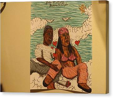 Me And My Girl Canvas Print by Brandon Crawford