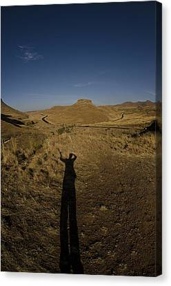 Me And My Shadow Canvas Print by Aaron Bedell
