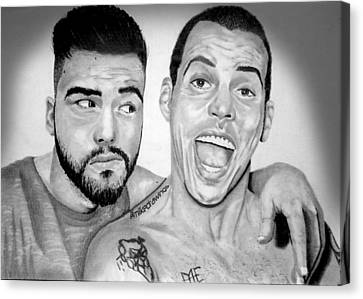 Igers Canvas Print - Me And The One Steve O by Mike Sarda