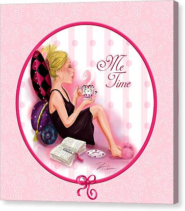 Me Time Canvas Print by Shari Warren