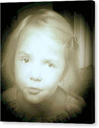 Canvas Print featuring the photograph Me Too by Shirley Moravec