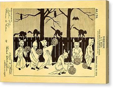 Mead Halloween Sheet Patent Art 1914 Canvas Print by Ian Monk