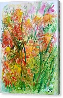 Meadow Flowers Canvas Print by Zaira Dzhaubaeva