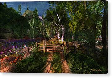 Meadow Gate Canvas Print