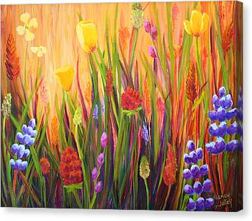 Meadow Gold Canvas Print by Nancy Jolley