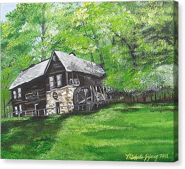 Meadow Run Mill Canvas Print by Michelle Young