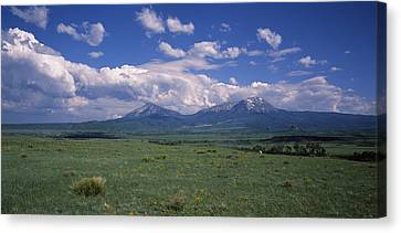 Meadow With Mountains Canvas Print by Panoramic Images